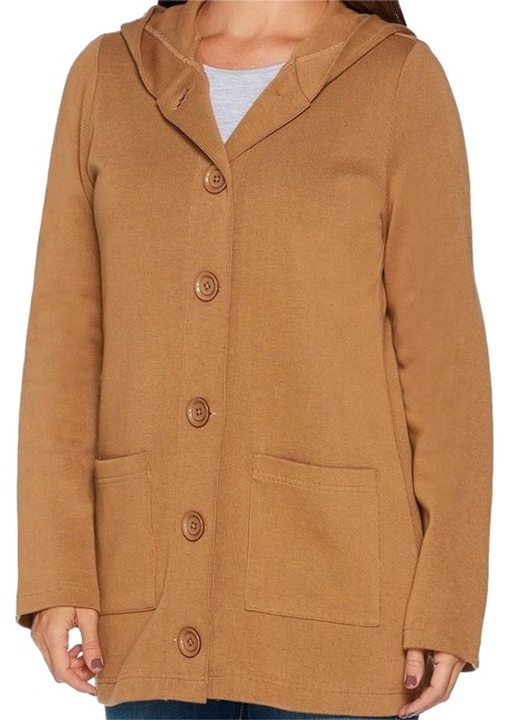 Item - Chestnut Button Front Long Sleeve Flat Back Jacket Size 10 (M)