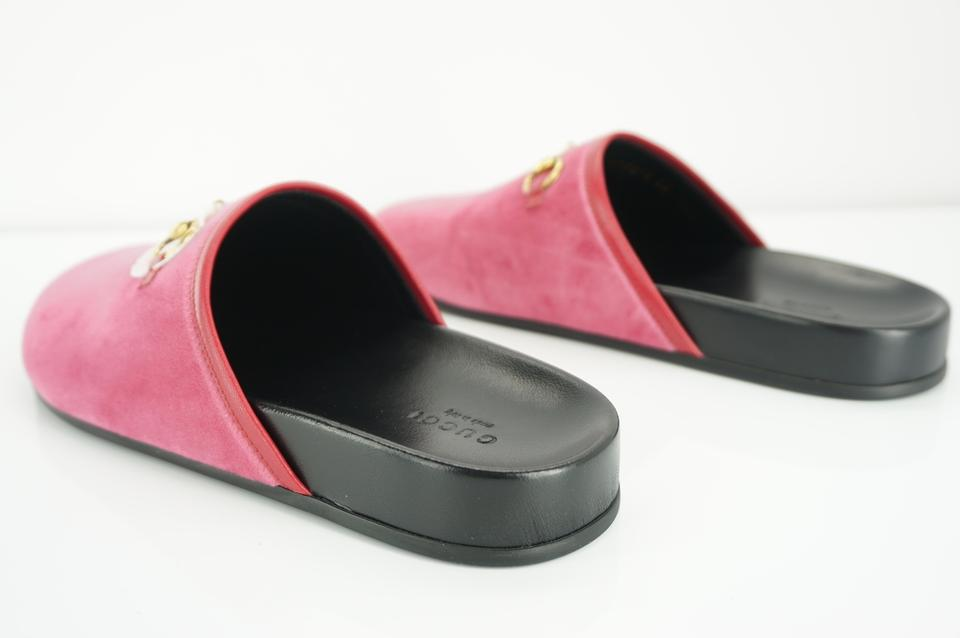 d17dac1e6ec1 Gucci Pink Horsebit Velvet Softy River Sippers Mules Slides Size EU 38  (Approx. US 8) Regular (M