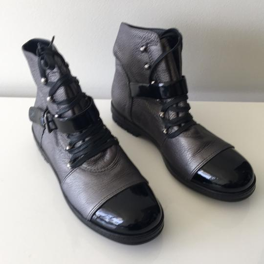 Chanel Black and Grey Boots Image 5