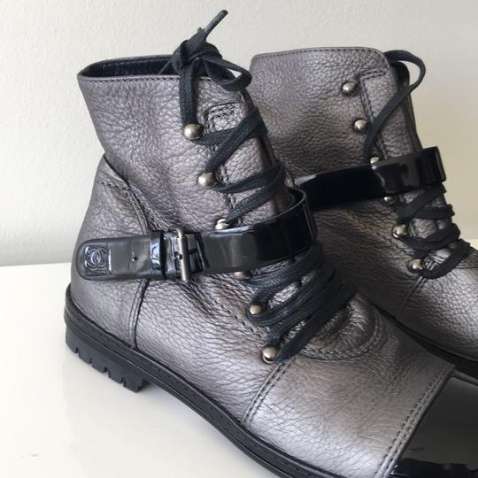 Chanel Black and Grey Boots Image 6