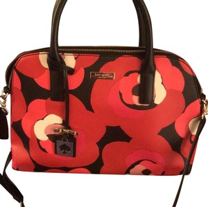 Kate Spade Satchel in Black and red