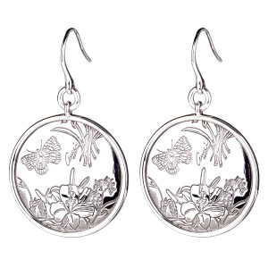 Gucci Gucci Flora Silver Drop Earrings