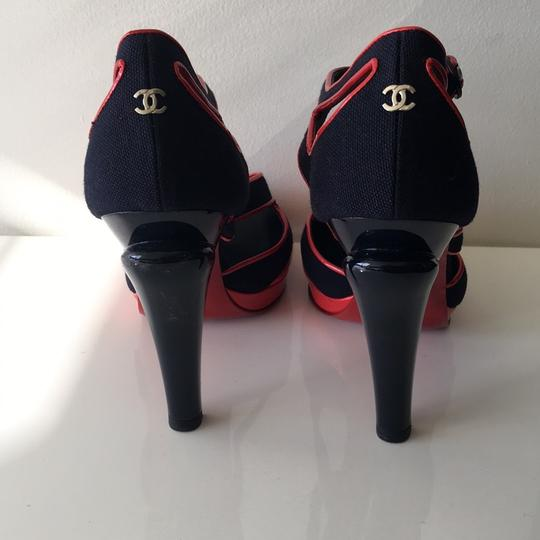 Chanel Red, Blue Platforms Image 2