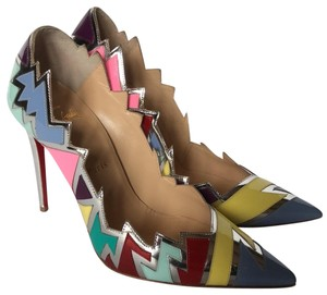 Christian Louboutin multi With silver Accent Pumps