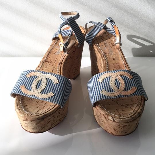 Chanel Blue and white Mules Image 1