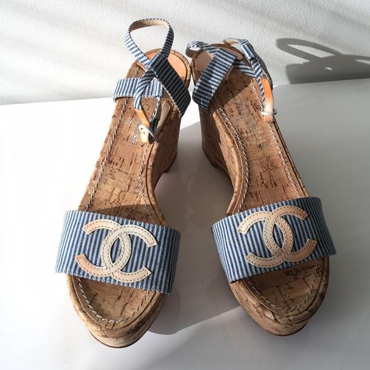 Chanel Blue and white Mules Image 2