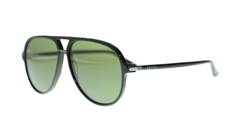 647aa4eb6a4 Gucci 001 Men s Aviator Gg0015s Black Green Lens Sunglasses - Tradesy