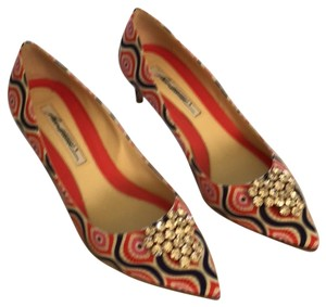 Brian Atwood Multi, pink, purple, coral Flats
