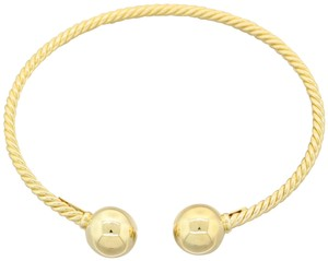 David Yurman David Yurman Solid 18k Yellow Gold Solari Bead Cuff Bracelet