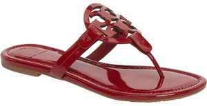 Tory Burch Flat Miller Red Sandals