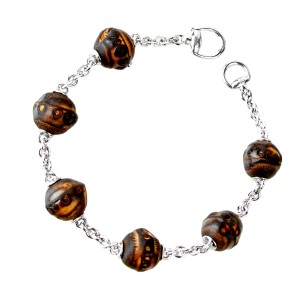Gucci Gucci Beaded Bamboo Sterling Silver Bracelet