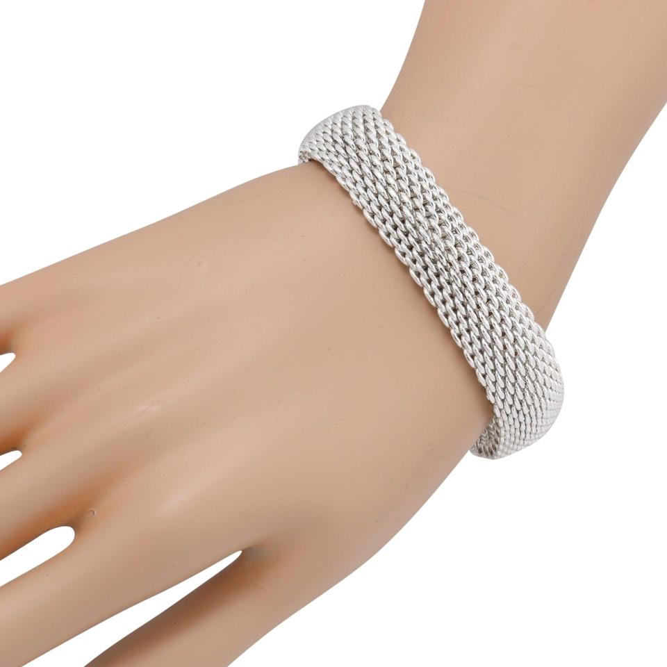 3572c6e58 Tiffany & Co. Tiffany & Co. 925 Sterling Silver Somerset Mesh 15mm Bangle  Bracelet ...