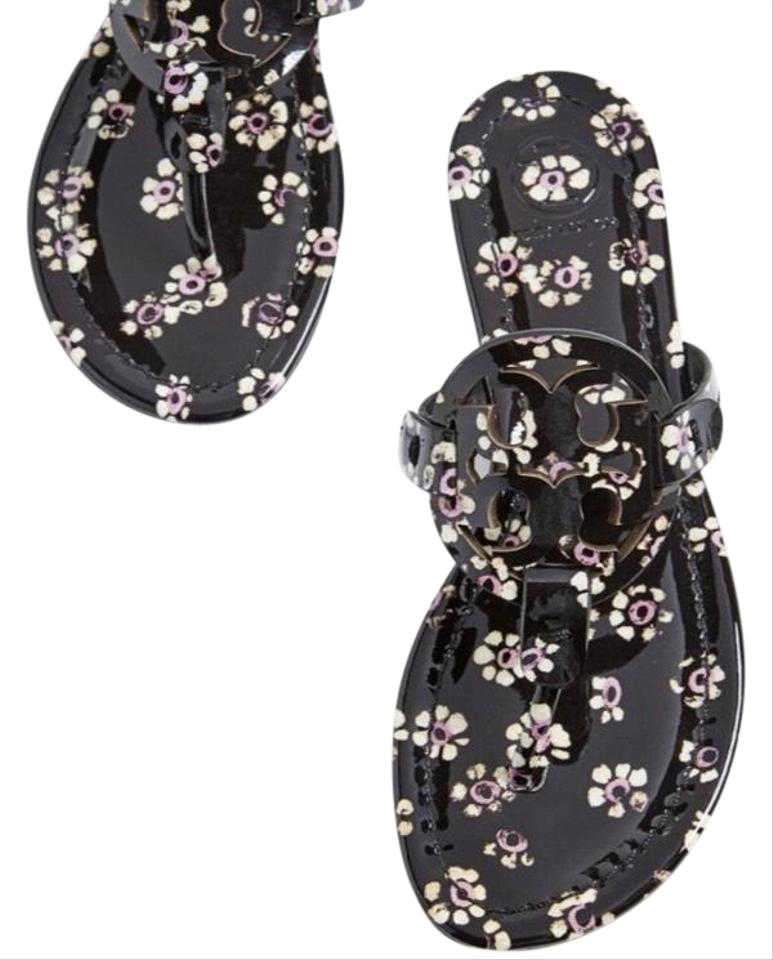 2358f91c9e39 Tory Burch Floral Black Miller Sandals Size US 6 Regular (M