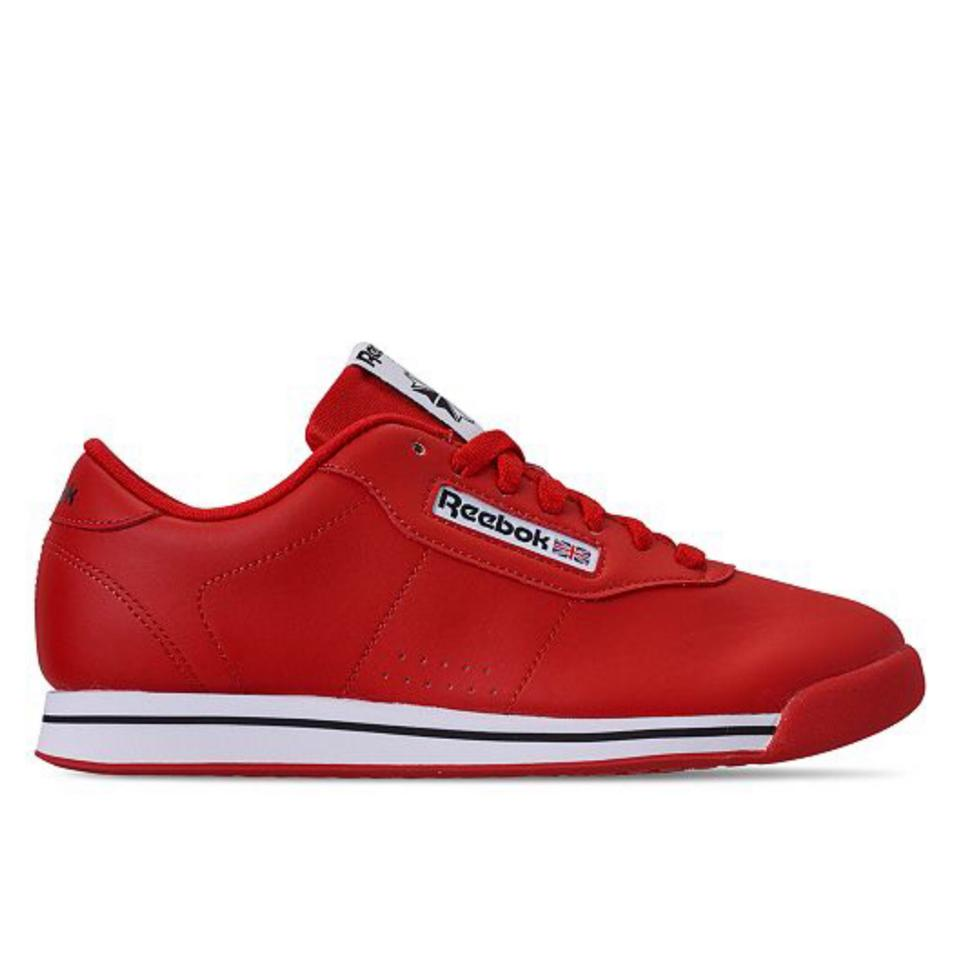 019711e9d94 Reebok Red White Black Women s Princess Casual Sneakers From Finish ...