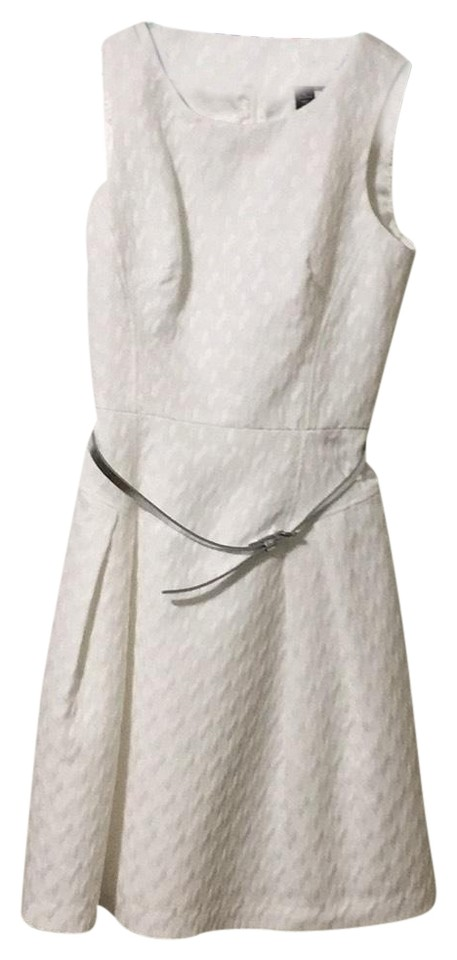 White House Black Market With Silver Belt 802008 Short Tail Dress Size 4 S 72 Off Retail