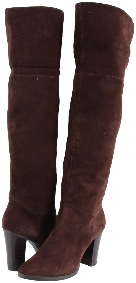 ba872d1ad9d Nine West Brown Snowfall Suede Over The Knee Boots Booties Size US ...