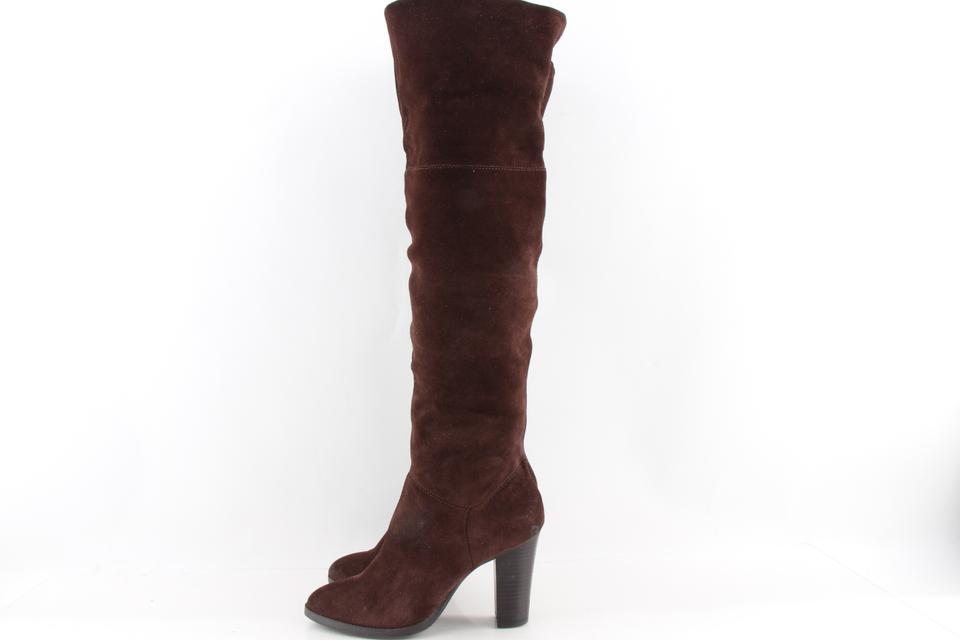 30dd60f8c0b Nine West Brown Snowfall Suede Over The Knee Boots Booties Size US 7.5  Regular (M