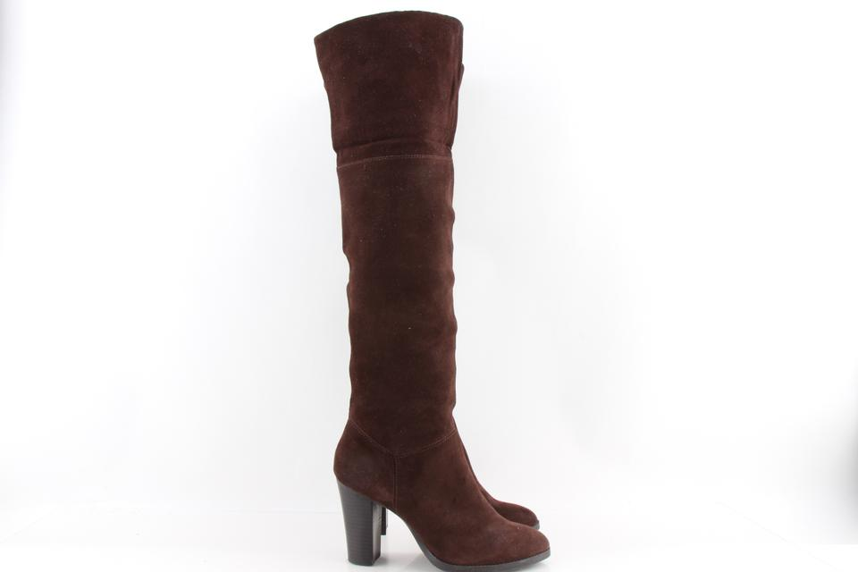 2d36288067f Nine West Brown Snowfall Suede Over The Knee Boots Booties Size US ...