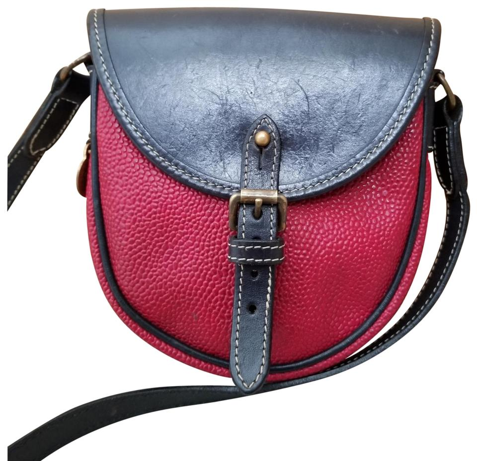 6fcebc5950 Mulberry Textured Navy and Red Leather Cross Body Bag - Tradesy