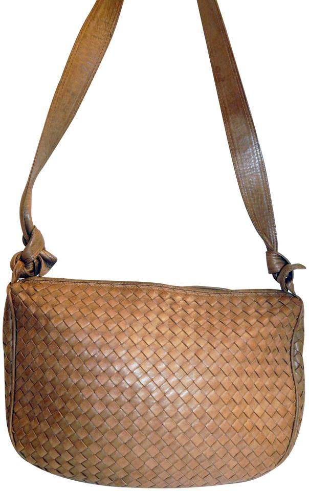 1c3c93421997 Bottega Veneta Woven Intreciato Lamb Italy Tan Lambskin Leather ...