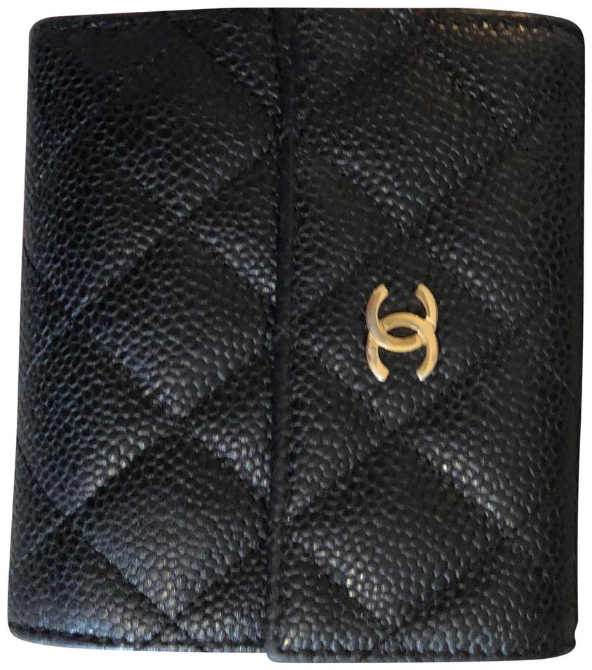 0ee69b03a7a412 Chanel Black Grained Calfskin Classic Small Flap Wallet - Tradesy