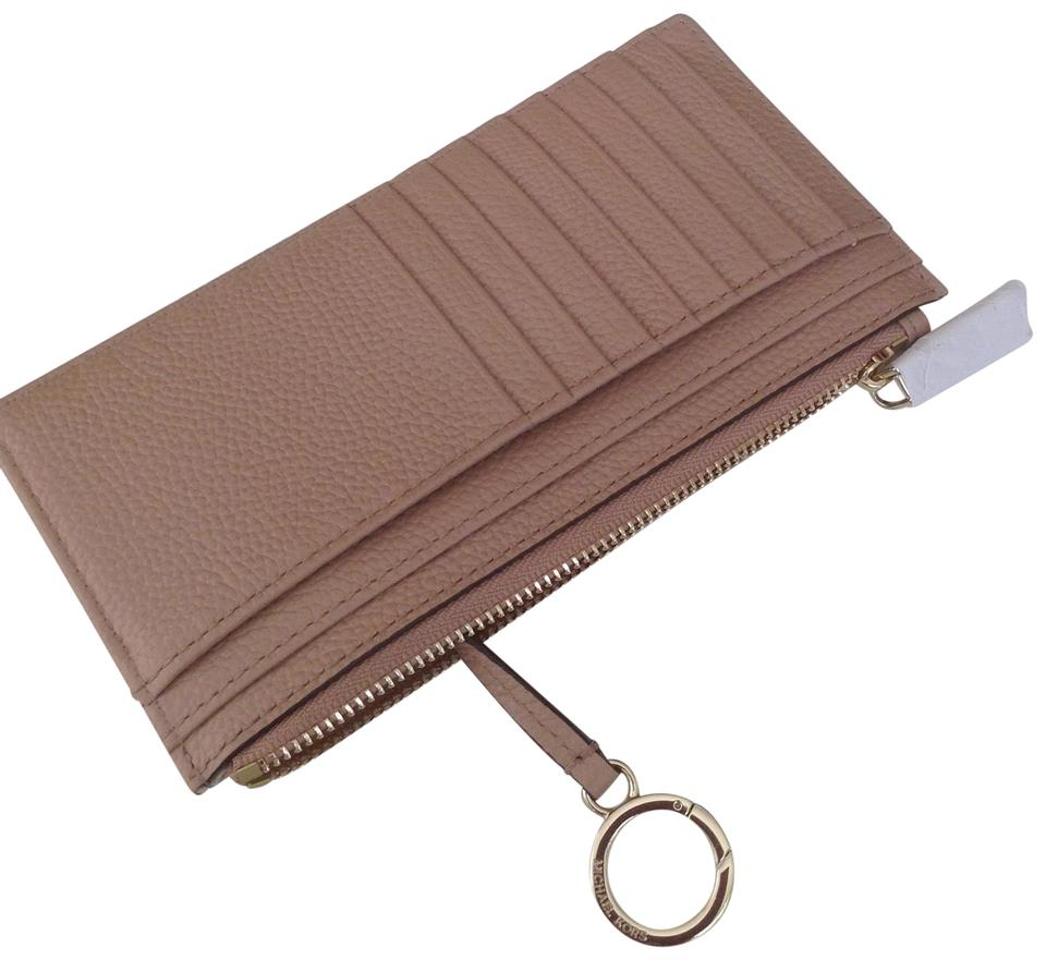 huge discount ee013 c6f8b Michael Kors Fawn New Large Slim Card Case Leather Wallet 40% off retail