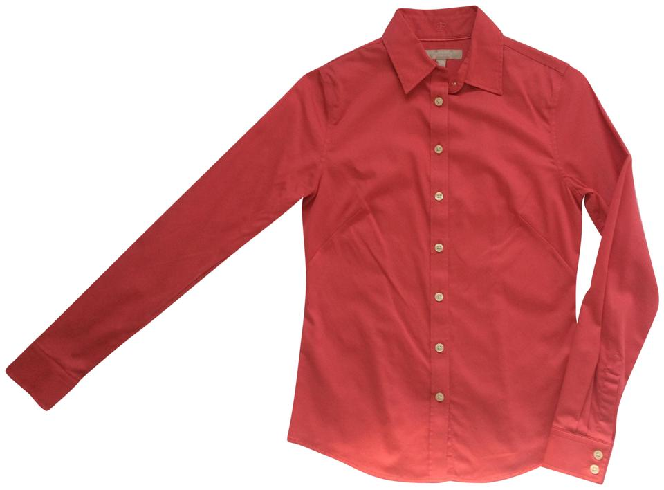 f7c8ddd0 Banana Republic Coral Non-iron Fitted Shirt Button-down Top Size ...