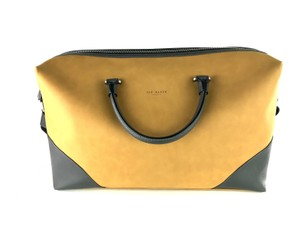 3906af9bf Ted Baker Leather Duffel Contrast Inferno Brown Gray Travel Bag