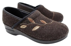 Dansko Embroidered Vegan Brown Mules