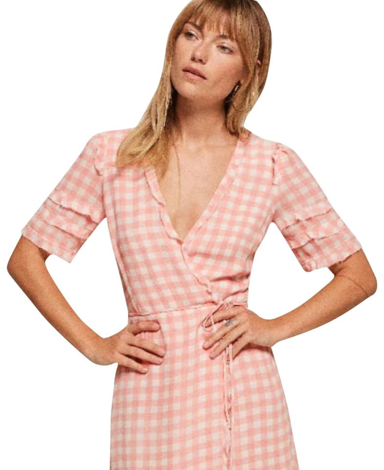 d10867218332 Reformation Pink Leanna Gingham Short Casual Dress Size 2 (XS) - Tradesy