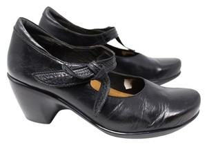 Naot Mary Janes Leather Black Mules