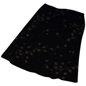 Unknown Stretchy Skirt black with floral pattern