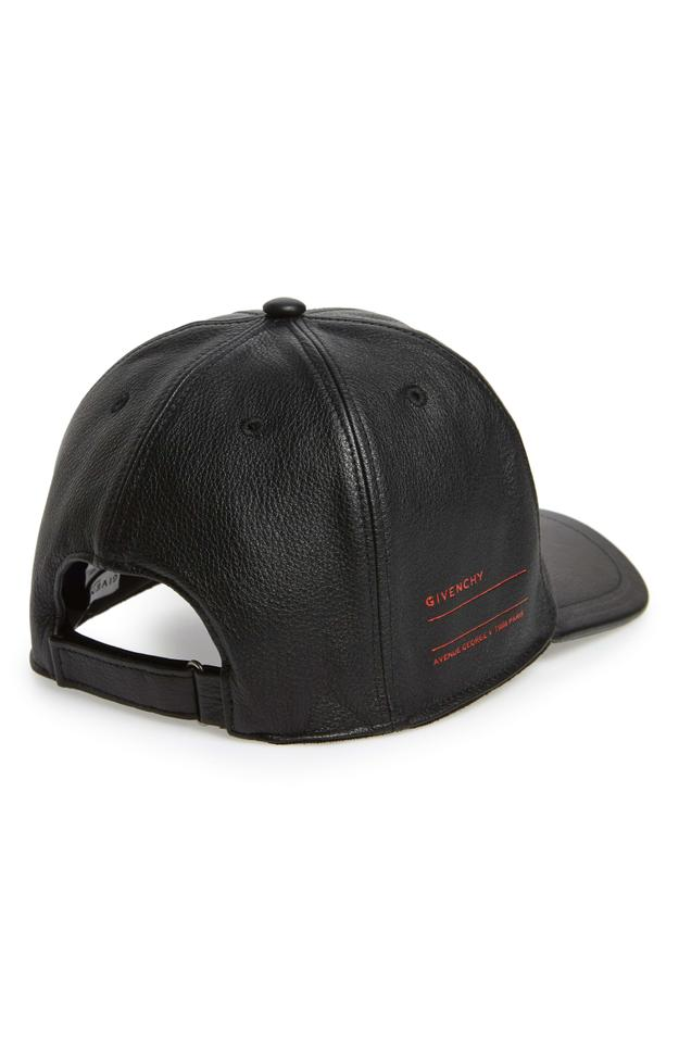 11c8a2ff0b6 Givenchy Givenchy Stamped Logo Black Leather Adjustable Ball Cap Baseball  Hat Image 11. 123456789101112