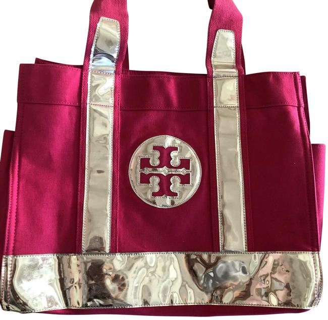 Item - Logo Pink/Silver Canvas Tote