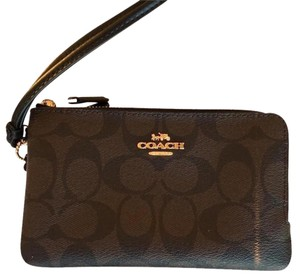 Coach New Classic New Wristlet New Bags brown/black Clutch