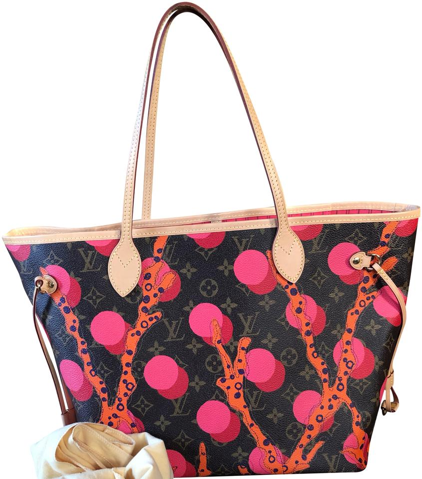 Louis Vuitton Neverfull Mm Ramages Pink Canvas Tote - Tradesy 21bea77fddecd