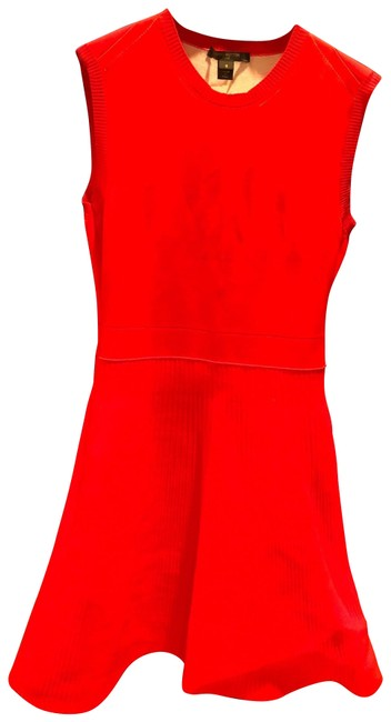 Item - Red Elegance Mid-length Short Casual Dress Size 4 (S)