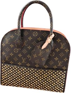 Louis Vuitton Limited Edition Christian Louboutin Iconoclasts Monogram Spike Tote