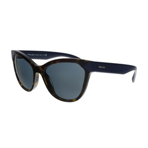 c6c3e34f9c3 Prada Prada Havana Dark Blue Rectangular Sunglasses