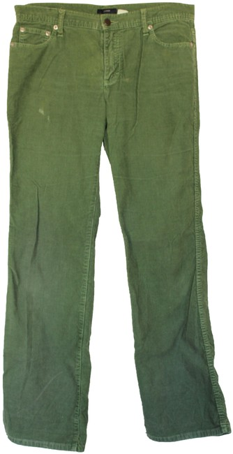 Item - Green Corduroy Boot Cut Jeans Size 29 (6, M)