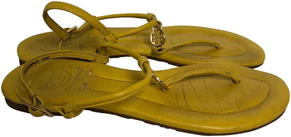fc506ff03db Tory Burch Yellow Leather Thong M Sandals. Size  US 5.5 Regular ...