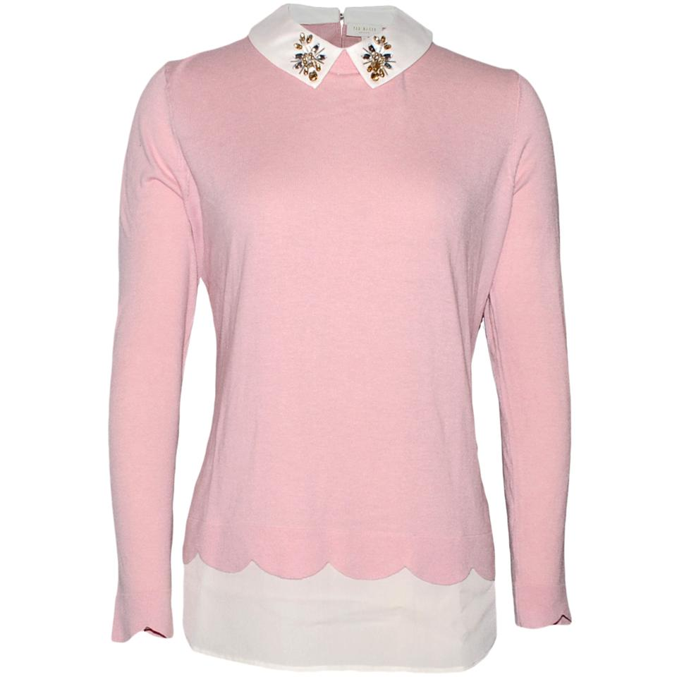 5fe726af6886f Ted Baker Suzaine Layered Jumper Pink Sweater - Tradesy