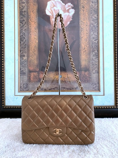 Chanel Lambskin Jumbo Double Flap Cross Body Bag Image 1
