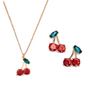 Kate Spade Ma Chérie Cherry Necklace & Earring Set