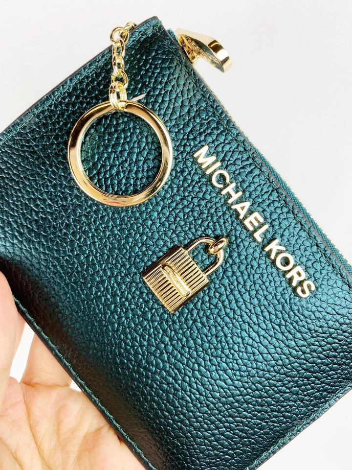 8664ab783a61b4 Michael Kors Michael Kors Adele Jet Set Zip Coin Wallet ID Keyring Card  Holder Image 10. 1234567891011