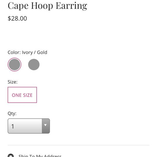 Free People free people cape hoop earring