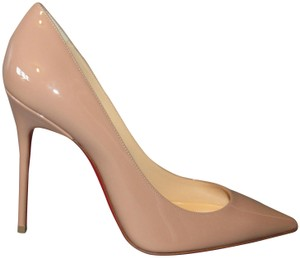 Christian Louboutin Red Sole With Box Classic Pigalle Beige Pumps