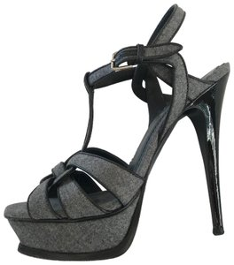 Saint Laurent Yves Ysl Tribute Heels grey Platforms