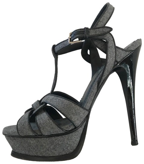 Preload https://img-static.tradesy.com/item/24670636/saint-laurent-grey-tribute-yves-ysl-wool-and-leather-heels-sandals-platforms-size-eu-37-approx-us-7-0-1-540-540.jpg