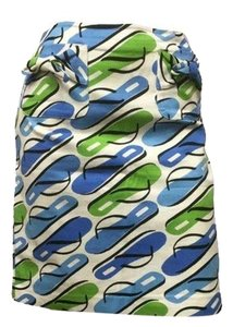 City Silk Skirt Blue, green